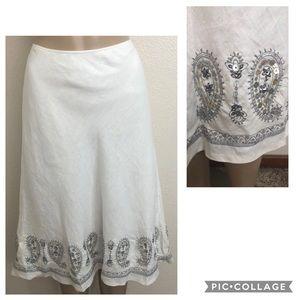 LAFAYETTE 148 New York 100% Linen Skirt